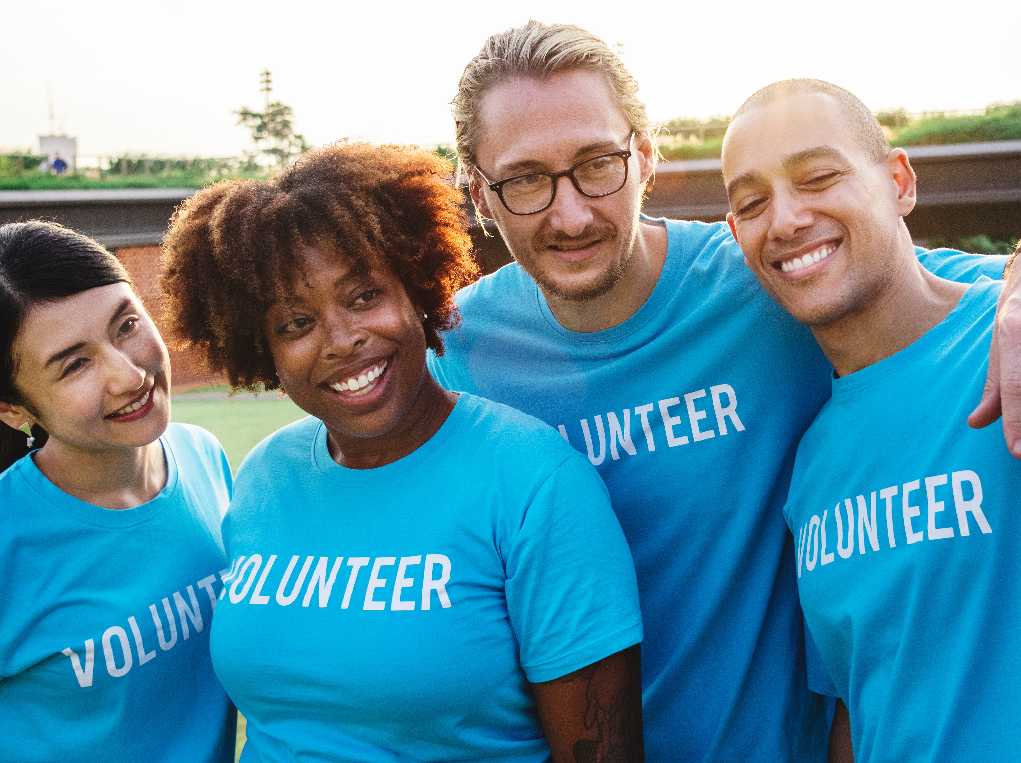 CSR Volunteers smiling